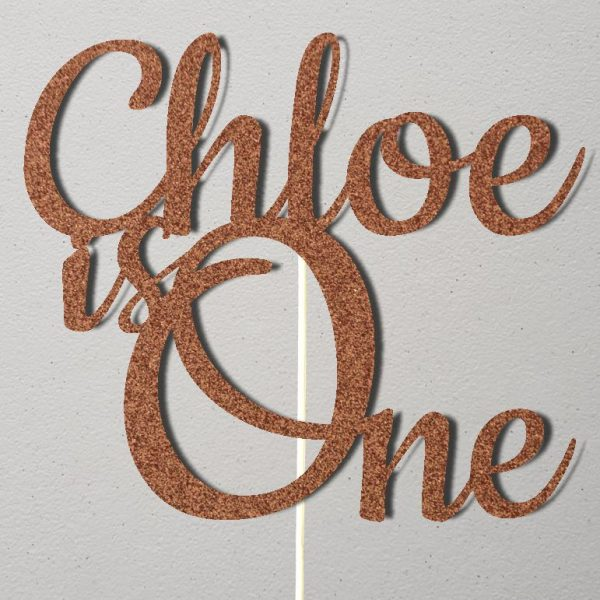 Personalised Birthday Cake Topper_CT010_Rose Gold