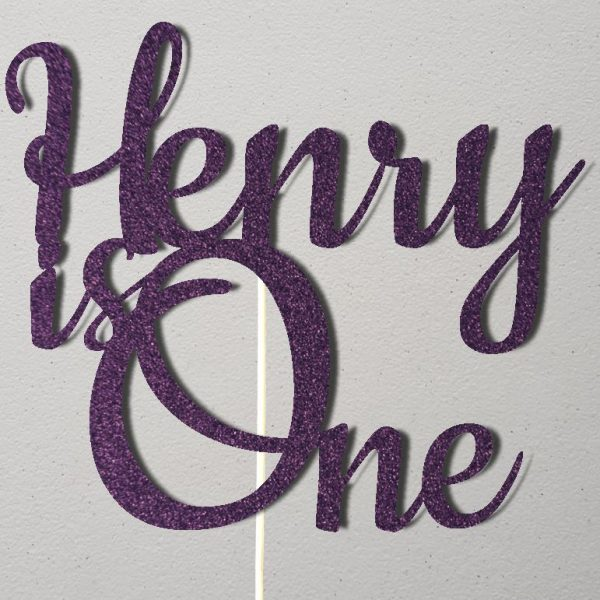 Personalised Birthday Cake Topper_CT010_Purple
