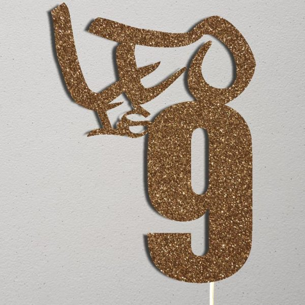 Personalised Birthday Cake Topper_CT011_Gold