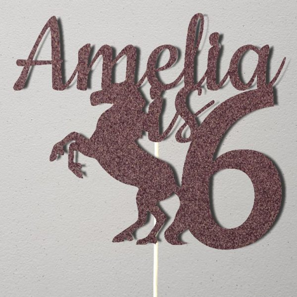 Personalised Birthday Cake Topper_CT016_Pale Purple