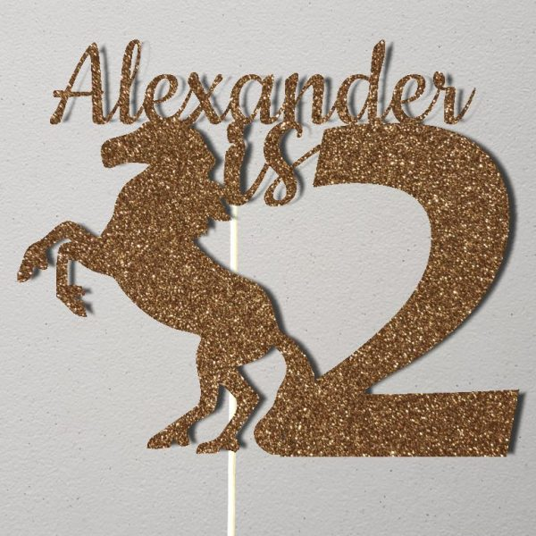 Personalised Birthday Cake Topper_CT016_Gold