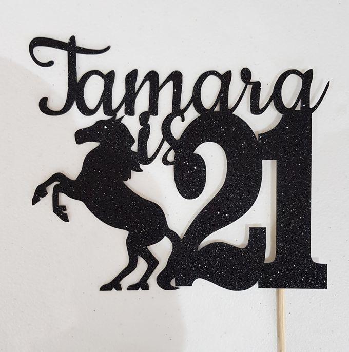 Strange Birthday Cake Topper Horse Themed Any Name And Age Light Personalised Birthday Cards Xaembasilily Jamesorg