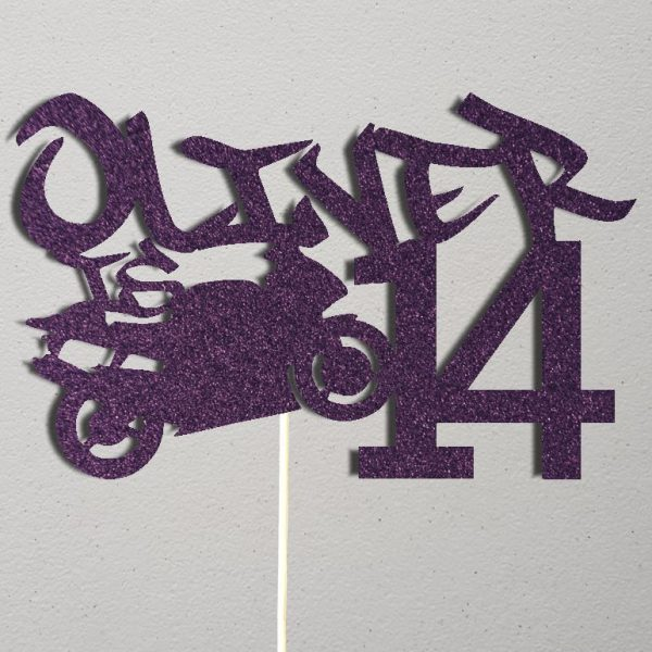 Personalised Birthday Cake Topper_CT018_Purple