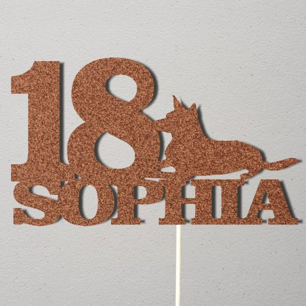 Personalised Birthday Cake Topper_CT020_Rose Gold
