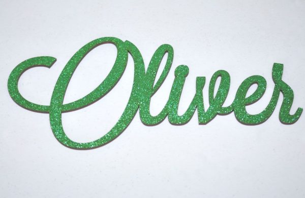 Personalised Glitter Name Wall Sign_Green
