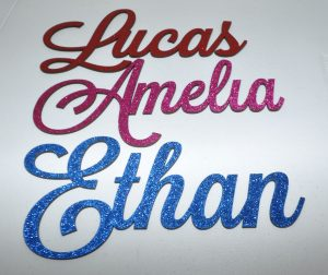 Personalised Glitter Name Wall Sign
