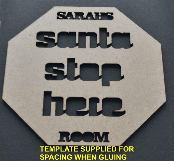 santa sign template